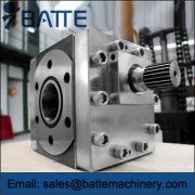 Extrusion gear pump specifications and seals