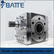 Gear pump for extrusion applications