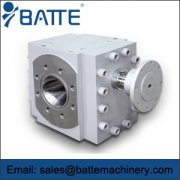 Extrusion gear pump principle and built structures