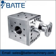The melt gear pump is configured for the extrusion process